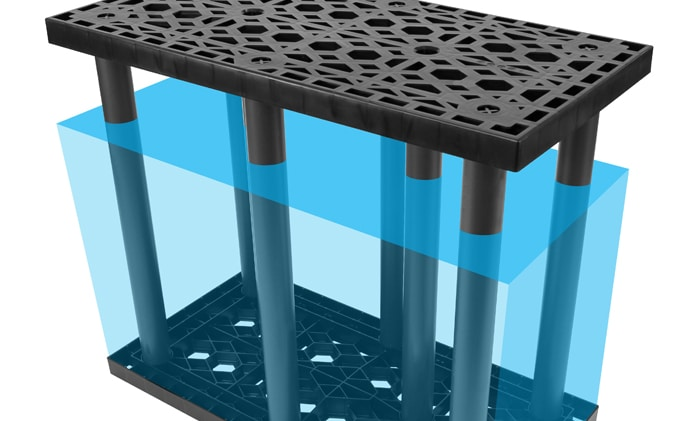 StormTank Module Void columns in water